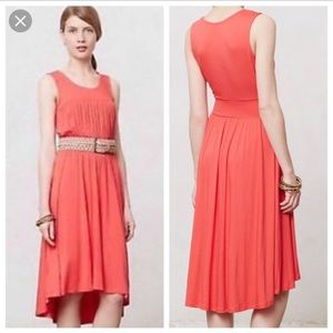 Anthropologie Girls from savoy Annabel dress coral
